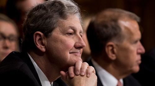 """Sen. John Kennedy R-LA said Friday he would """"happily and proudly"""" vote to endorse Judge Brett Kavanaugh for the U.S. Supreme Court.  He voted yes on Kavanaugh."""