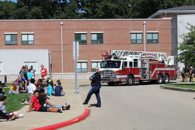 Zanesville Middle School was evacuated Friday afternoon after an HVAC system malfunctioned.