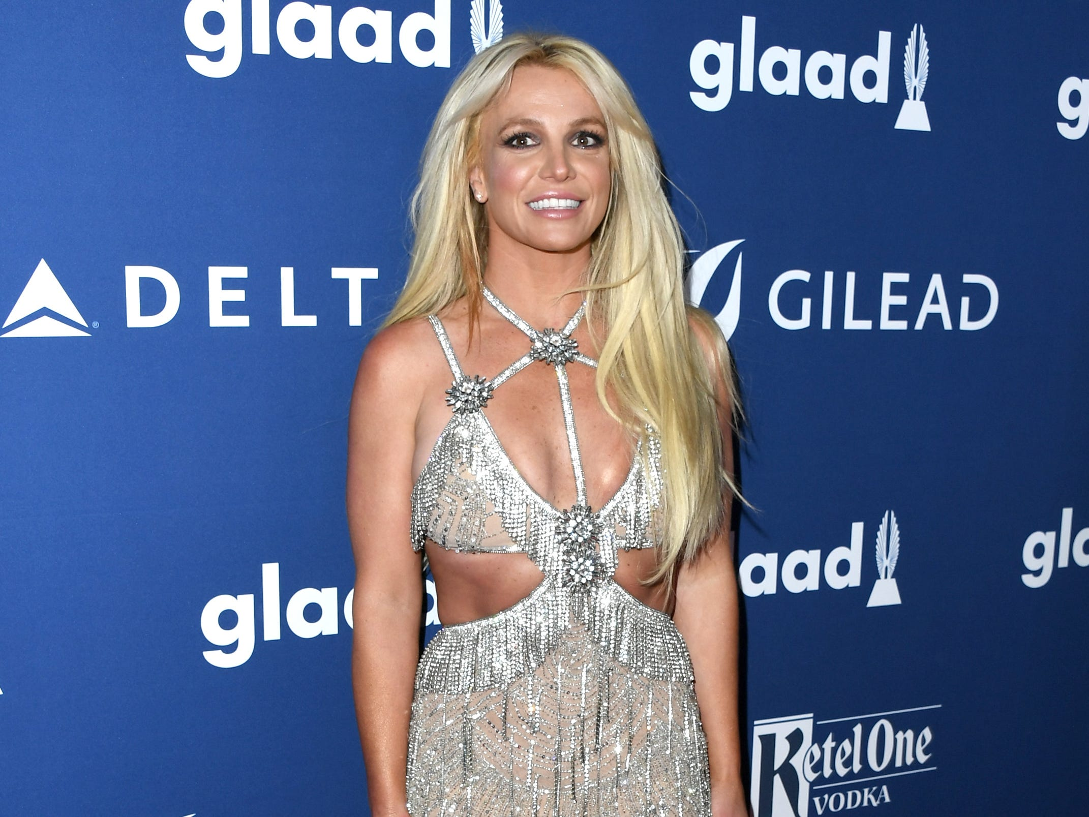 BEVERLY HILLS, CA - APRIL 12: Honoree Britney Spears attends the 29th Annual GLAAD Media Awards at The Beverly Hilton Hotel on April 12, 2018 in Beverly Hills, California.  (Photo by Jon Kopaloff/FilmMagic) ORG XMIT: 775150375 ORIG FILE ID: 945518494