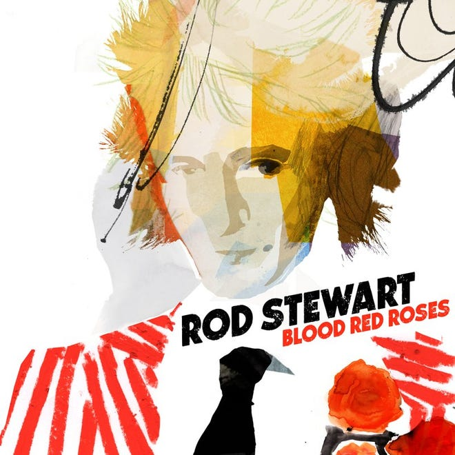 "Rod Stewart, ""Blood Red Roses"""