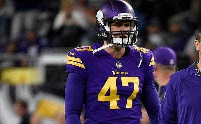 Starting long snapper Kevin McDermott had to leave part of Thursday's game to treat an ugly finger injury.