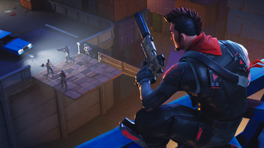 Screen shot from the online video game 'Fortnite.'