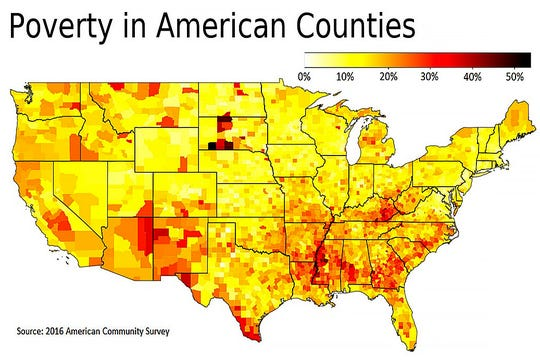 Poverty in American counties