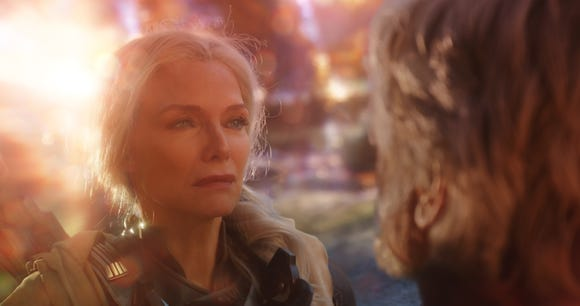 "Janet Van Dyne (Michelle Pfeiffer) is saved after spending 30 years in the Quantum Realm in ""Ant-Man and the Wasp."""