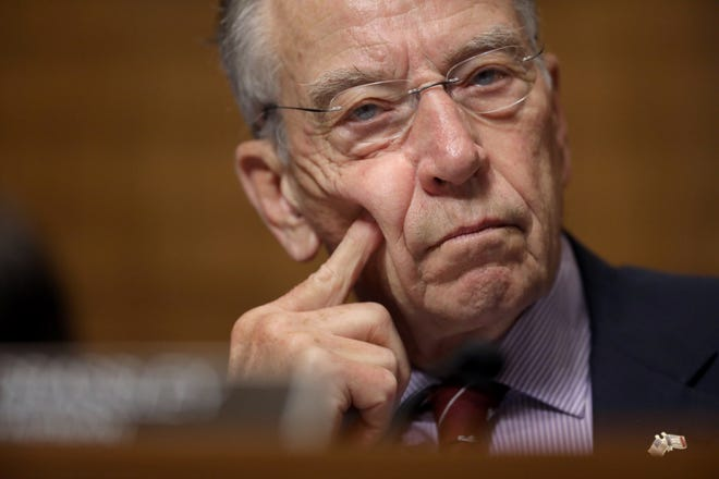 Senate Judiciary Committee Chairman Chuck Grassley, R-Iowa, during a committee meeting on September 28, 2018.