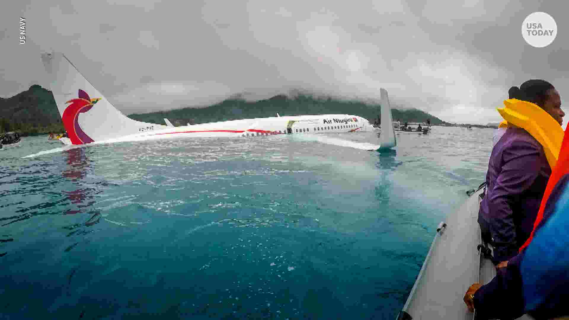 Plane Crash Lands Into Lagoon All Passengers And Crew Survive