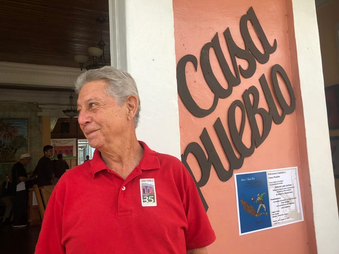"""Alexis Massol-González founded Casa Pueblo in 1980 to oppose open-pit mining. Today, the community center in Adjuntas, Puerto Rico, is one of the few self-sustaining solar """"microgrids"""" on the island."""