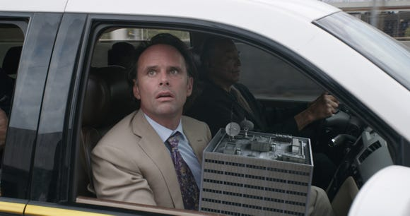 """Sonny Burch (Walton Goggins) is out to steal some serious high tech in """"Ant-Man and the Wasp."""""""