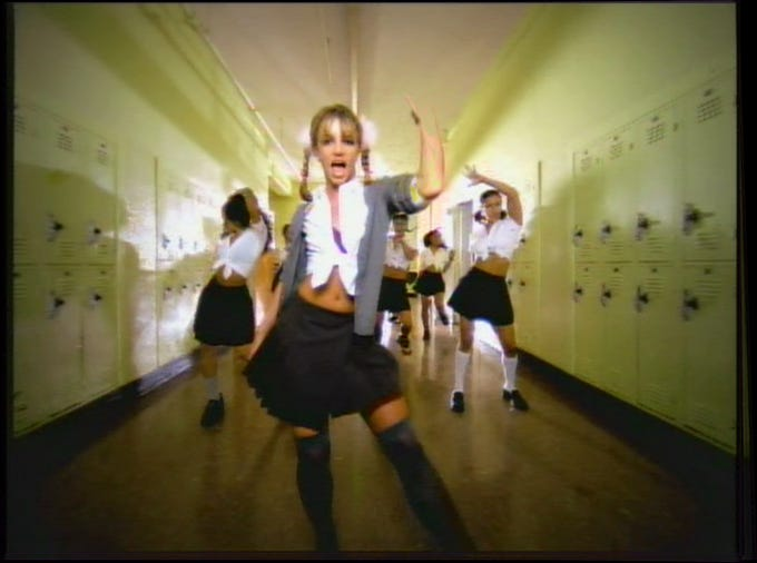 """Another sign we're all old: Britney Spears' breakthrough hit """"Baby One More Time"""" turns 20 this week."""