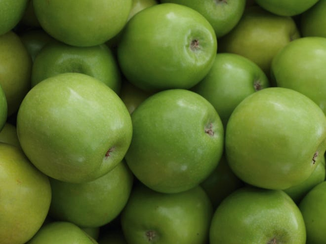 3. Granny Smith. First produced in 1868, Granny Smith apples are still very popular in the US.