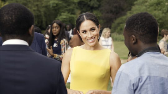 Duchess Meghan of Sussex attended a party to meet young people from across the Commonwealth at the Your Commonwealth Youth Challenge reception at Marlborough House on July 5, 2018 in London.