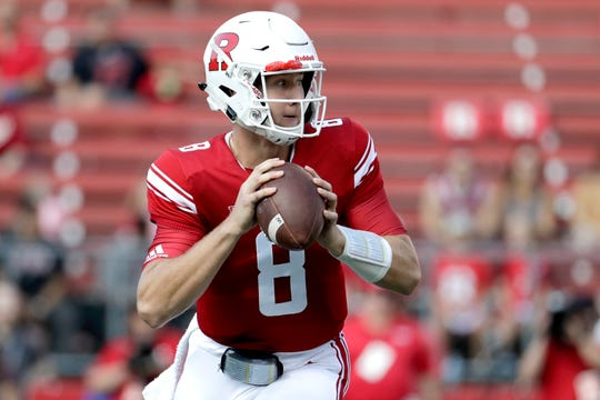 Rutgers quarterback Artur Sitkowski looks to pass against Indiana during the first half.