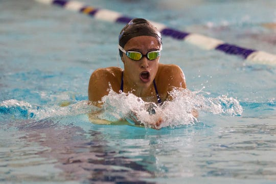 Harper Creek's Alysa Wager won the 200 IM at the annual All-City Swim Meet.
