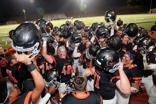 Central Kitsap head football coach Mark Keel recorded his 100th career victory with a win over Shelton at Silverdale Stadium on Friday, September 28, 2018.