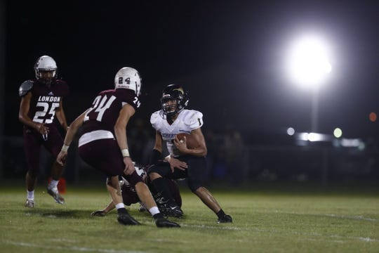 The London Pirates battle the Hebbronville Longhorns in a Texas high school football matchup.