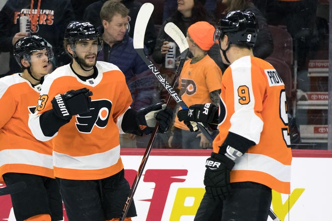 Shayne Gostisbehere, center, and Ivan Provorov are a solid top pair for the Flyers. Behind them, however, is a lot of doubt.