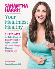"""Samantha Harris will share highlights of her just-published book,""""Your Healthiest Healthy:8 Easy Ways to Take Control, Help Prevent and Fight Cancer, and Live a Longer, Cleaner, Happier Life,"""" during RWJUH Somerset's 11thannual Breast Cancer Awareness Month Event in Bridgewater on Oct.16."""