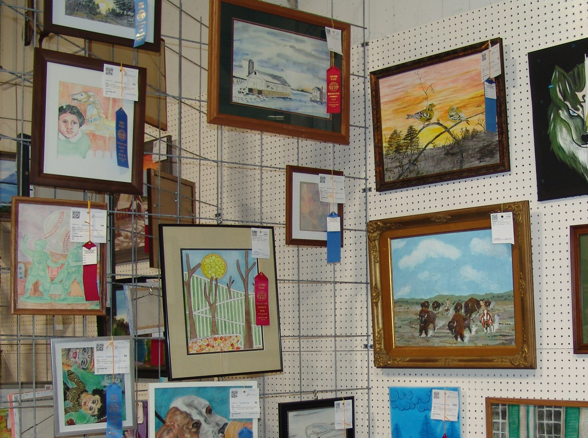 Artwork on display in the Art Hall.