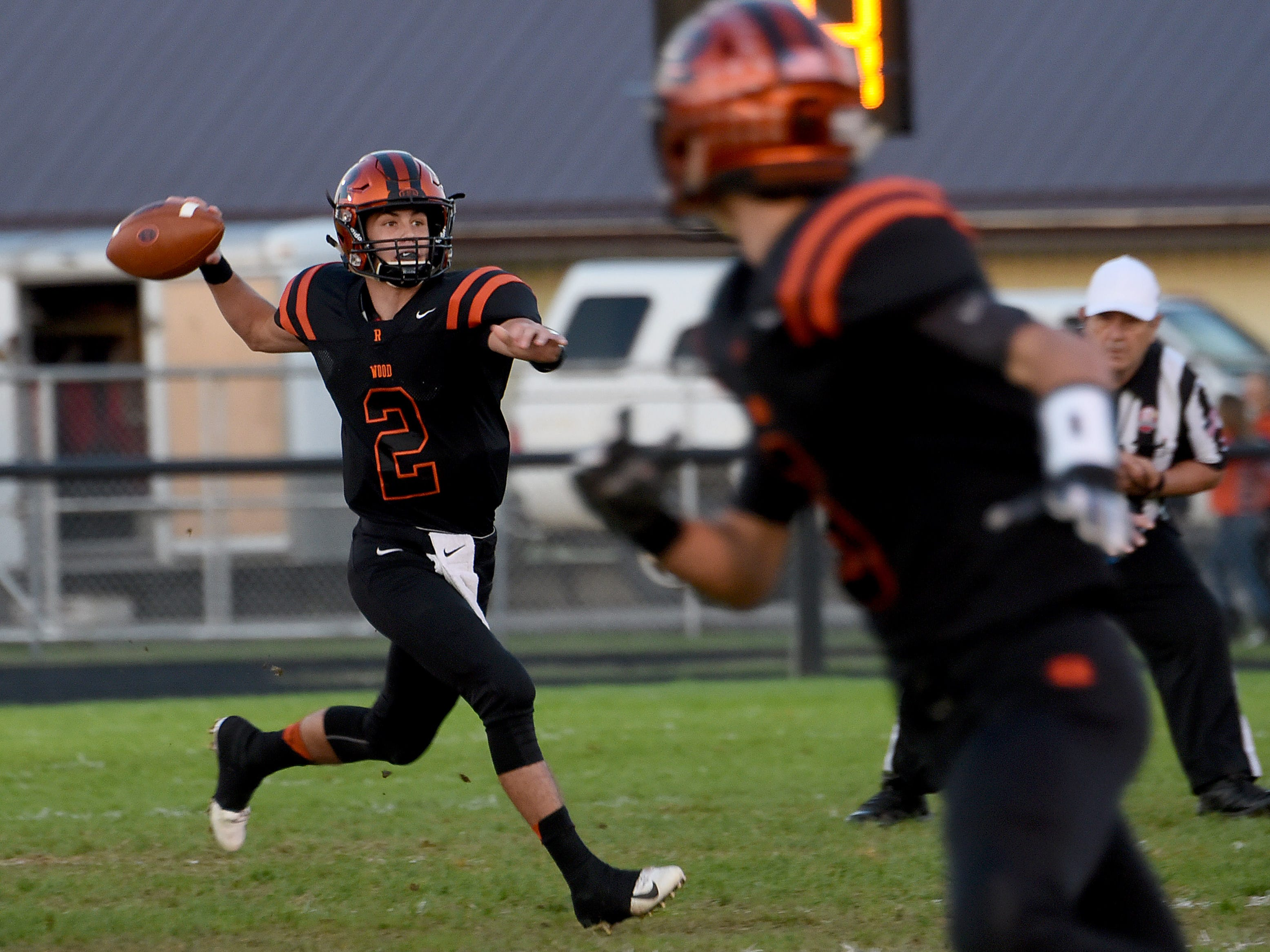 Ridgewood freshman quarterback Gabe Tingle looks for an opening during Friday night's game against Indian Valley. The Generals won 34-22.