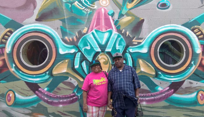 Ethel Knight and her husband, Edward Knight Jr., of Romulus took the D to the RiNo district of Denver to the site of the Crush Walls event celebrating graffiti and street art in July 2018.