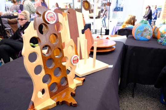 K-Cup Michigan coffee holder at the Made in Michigan Festival in Allen Park on Sept. 29, 2018.