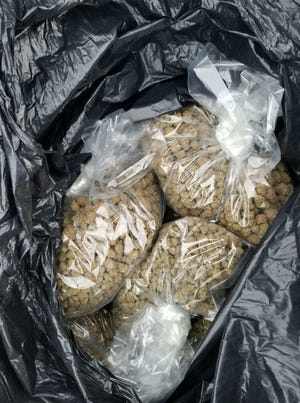 Seized marijuana found by Oakland County Sheriff officials during traffic stop.