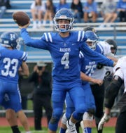 Horseheads quarterback Grayson Woodhouse passes the ball during a 28-21 win over Corning on Sept. 29, 2018 at Horseheads High School.