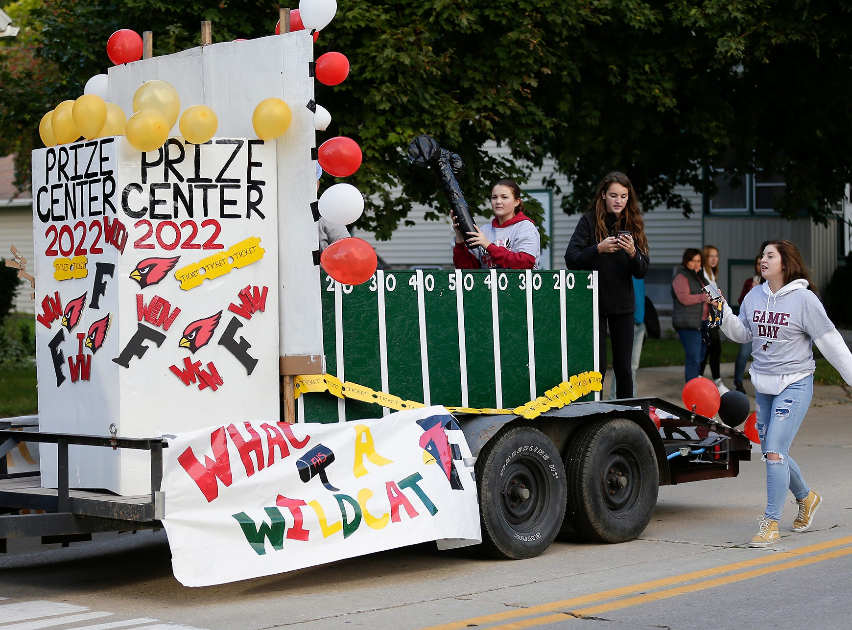 The Fond du Lac High School class of 2022 rode in the Fond du Lac High School football homecoming parade Friday, Sept. 28, 2018, which went down portions of Martin Avenue and Ninth Street in Fond du Lac, Wisconsin.