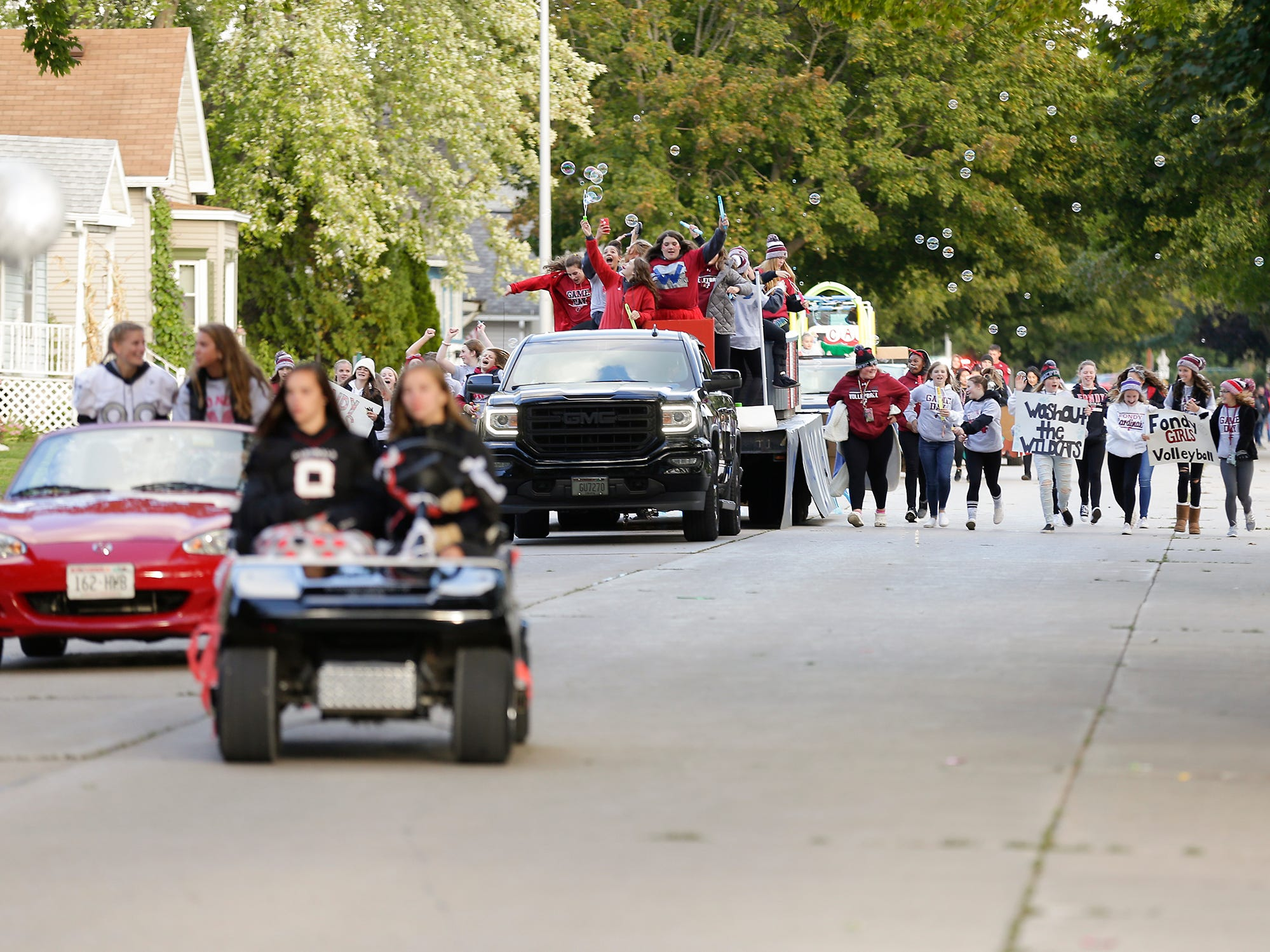 Fond du Lac High School held their football homecoming parade Friday, Sept. 28, 2018, which went down portions of Martin Avenue and Ninth Street in Fond du Lac, Wisconsin.