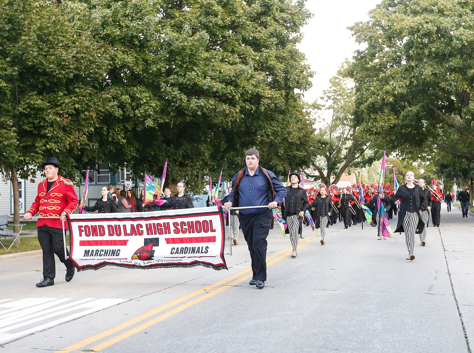 Fond du Lac High School held its football homecoming parade Friday, Sept. 28, 2018, which went down portions of Martin Avenue and Ninth Street in Fond du Lac, Wisconsin.