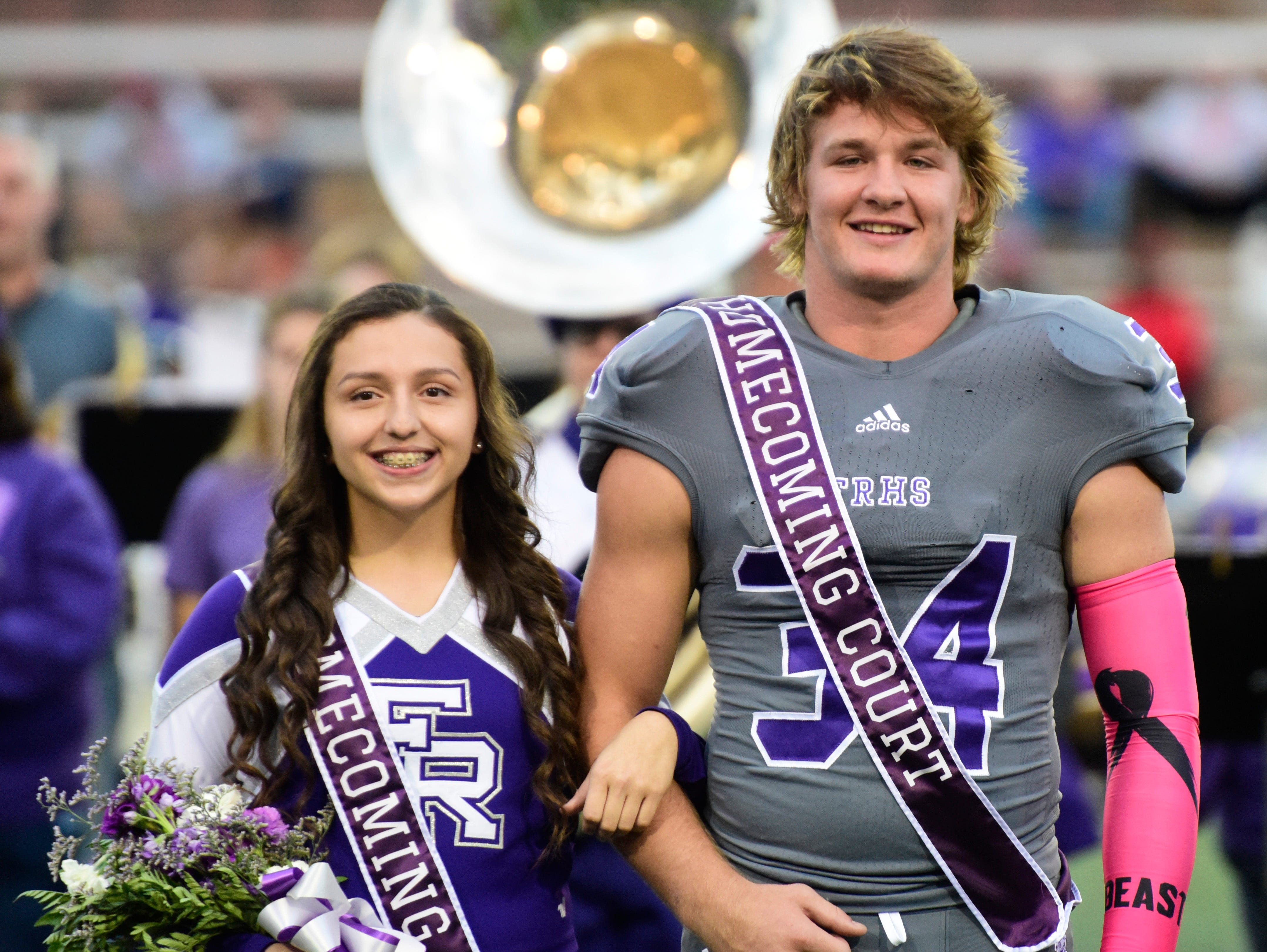 Fremont Ross 2018 senior homecoming attendant Aniya Urias, left, and king Caleb Wood.