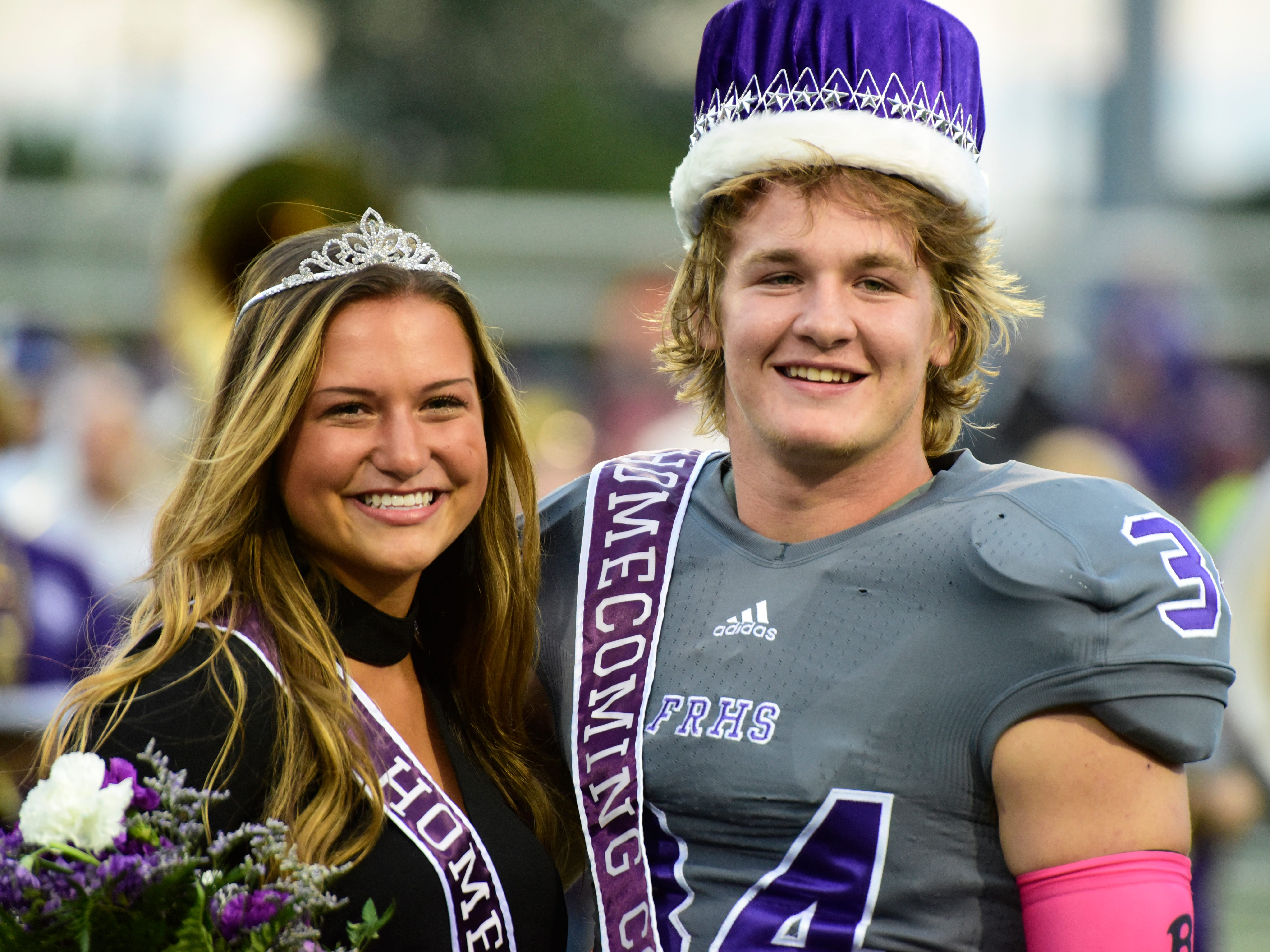 Fremont Ross 2018 homecoming queen Gillian Gallagher and king Caleb Wood.