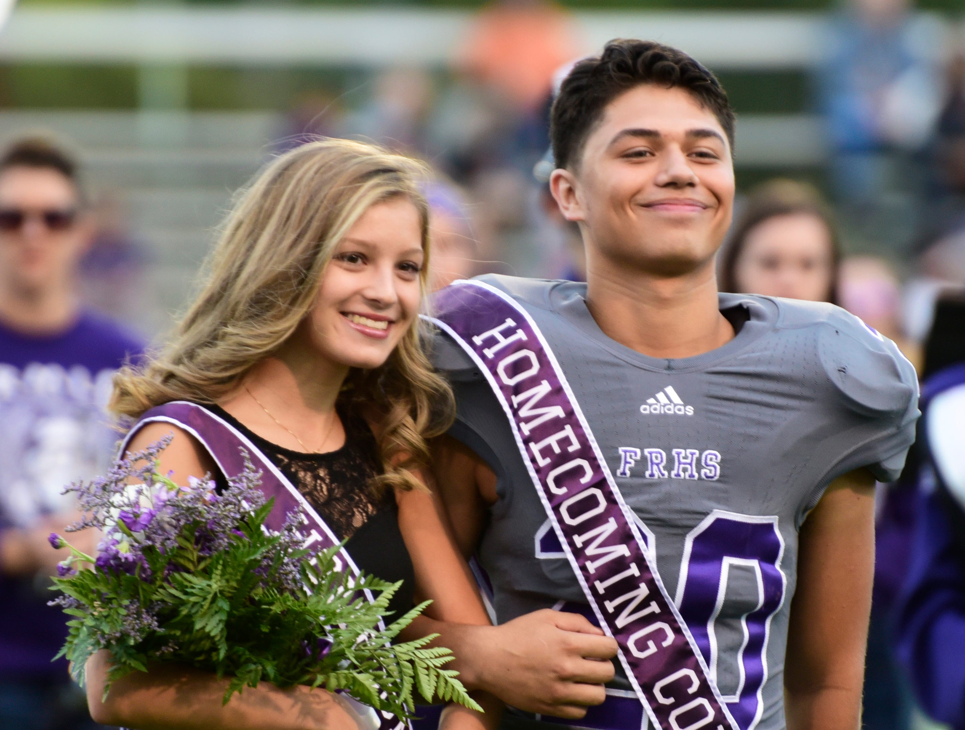 Fremont Ross 2018 sophomore homecoming attendants Jenna Ruiz, left, and Kaden Garza.