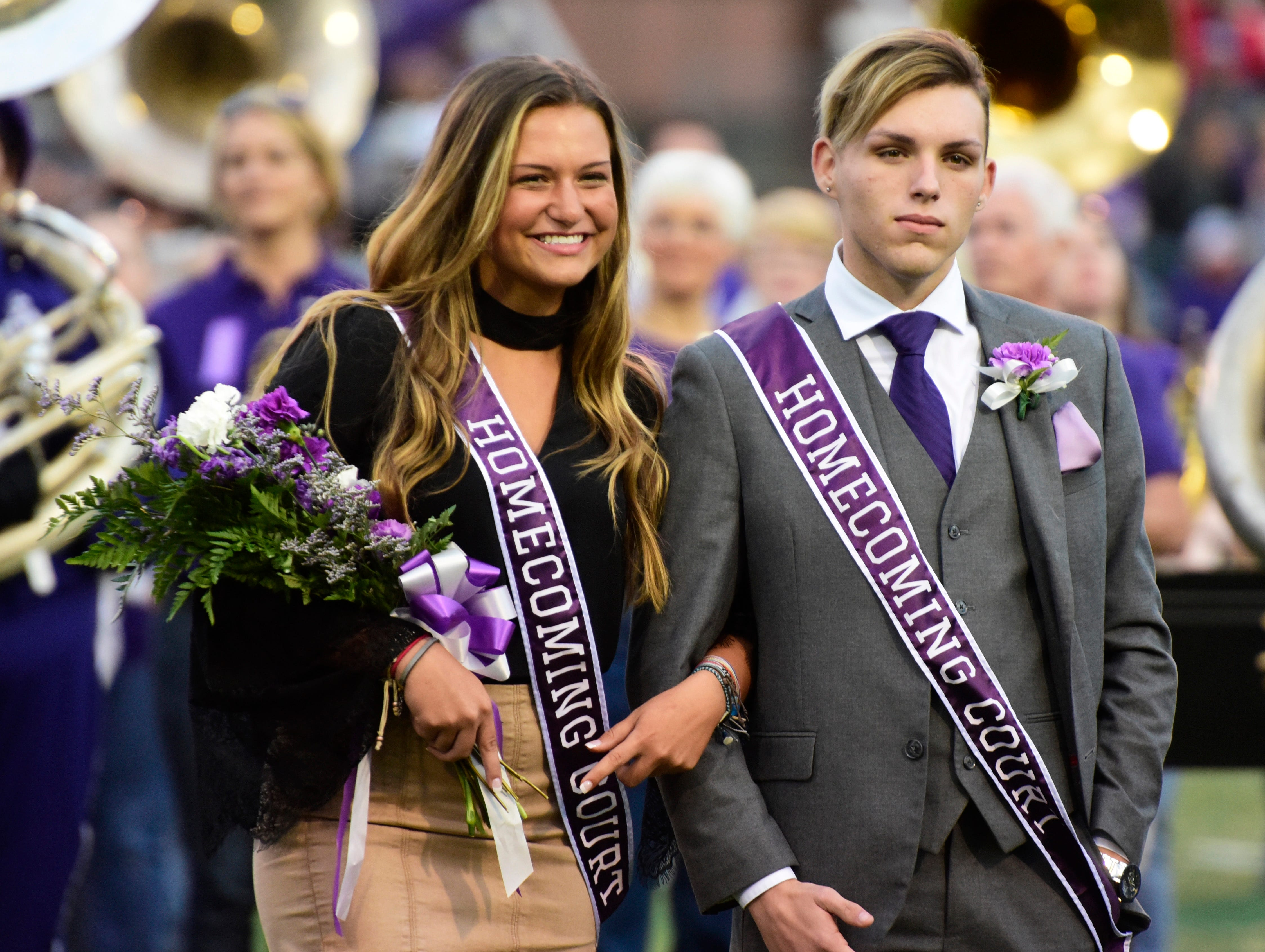 Fremont Ross 2018 senior homecoming queen Gillian Gallagher, left, and attendant Gage Koenig.