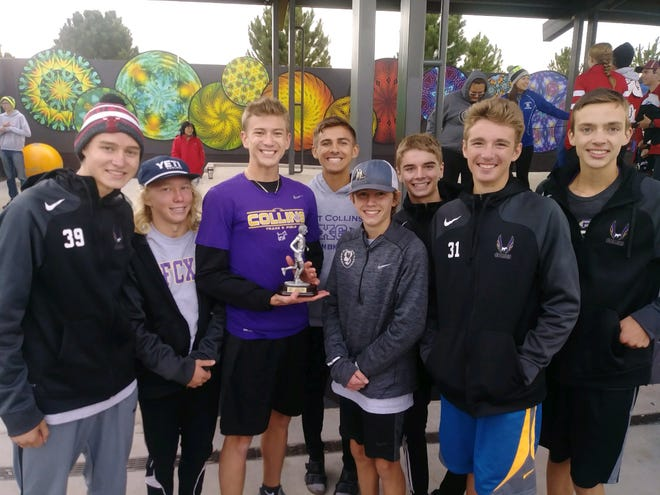 The Fort Collins boys cross country team won Friday's Thornton Invite. Here are team scores and individual top-10 finishers from the event. Boys: 1. Fort Collins 55, 3. Fossil Ridge 121, 10. Rocky Mountain 280, 12. Poudre 304, 31. Windsor 828. Local top 10 finishers: 4. James Gregory (FC), 16:05, 6. Kevin Conlon (FC), 7. Eric Wright (FR) 16:20, 8. Calbert Guest (FC) 16:21, 9. John Houdeshell (P )16:23.  Girls:  1. Fossil Ridge 73, 9. Rocky Mountain 252, 12. Windsor 311, 13. Fort Collins 335, 16. 500. Local top 10 finishers: 1. Emily Beckner (FC) 18:04, 4. Lena Fogarty (FR)18:21, 5. Morgan Hyles (W) 18:25