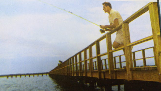 The fishing pier at the Cape Coral Yacht Club was all part of the allure for early prospective homebuyers in Cape Coral.