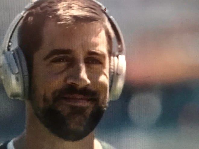 "Aaron Rodgers stars in a new ad for Bose headphones called ""Focus. On."""