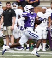 Furman's Dejuan Bell (88), shown in a 2019 game, had a big day during the Paladins' scrimmage Saturday.