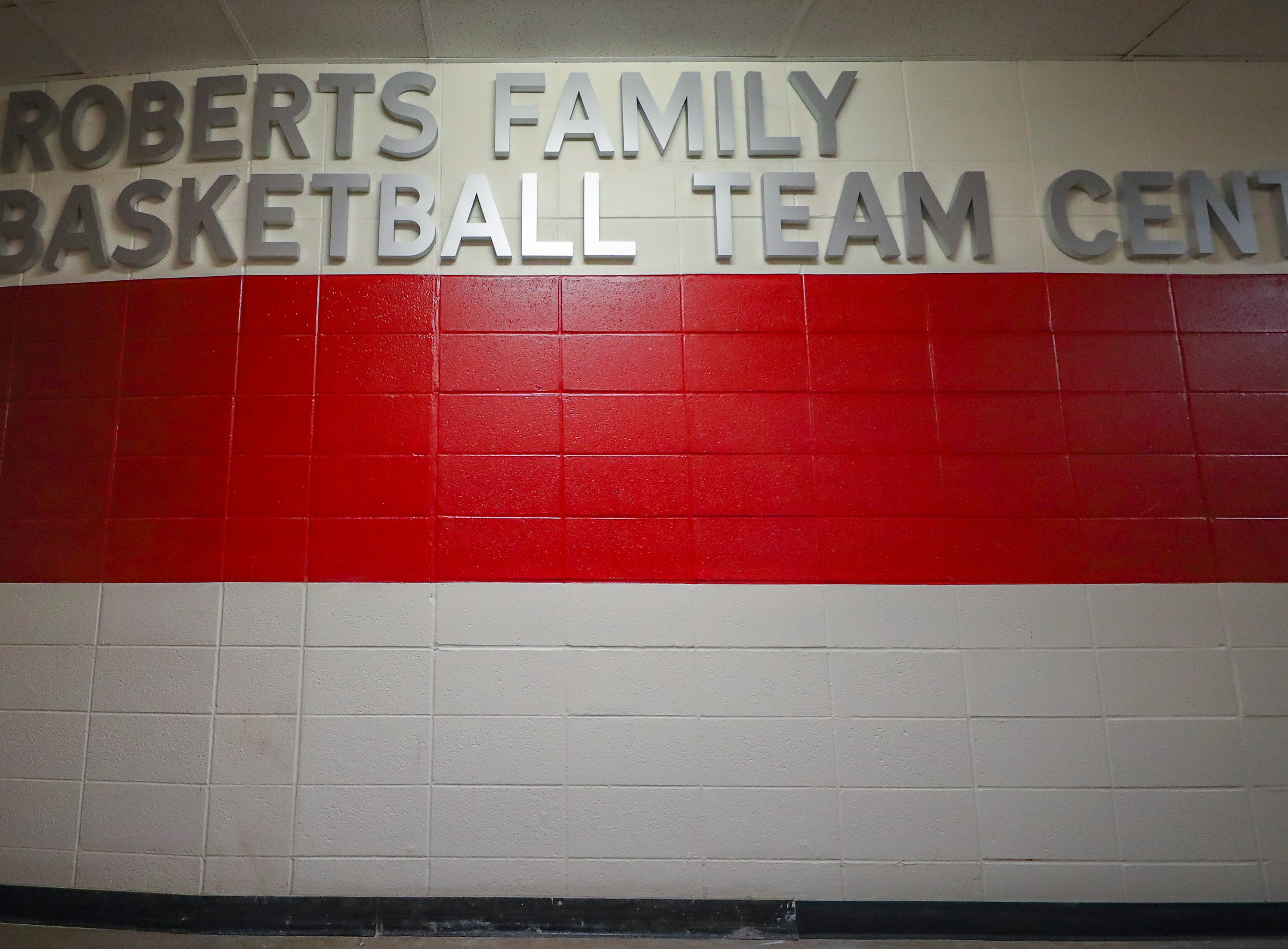 BLOOMINGTON, IN - SEPTEMBER 29, 2018 - Roberts Family Indiana Basketball Team Center. Included in its more than 4,000-square feet of space are the Andy Mohr Locker Room; the Oladipo Zeller Legacy Lounge; the Tim Garl Athletic Training Room; and the Basketball Coaches annex.