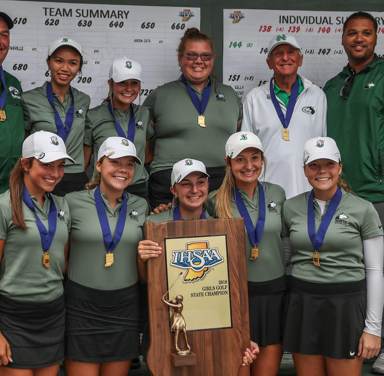 North girls golf lights up back nine to win state championship