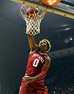 Indiana Hoosiers guard Romeo Langford is a potential lottery pick.