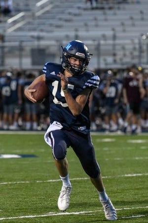 St. Thomas More quarterback Walker Howard during junior varsity action earlier this season.
