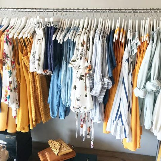 Colorful, unique blouses offered at Heirloom by Herringstones