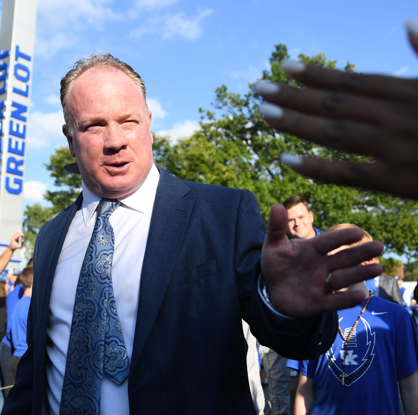 UK head coach Mark Stoops during the Cat Walk...