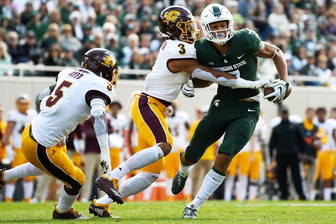 MSU sophomore receiver Cody White suffered a broken hand during Saturday's game against Central Michigan. There's no timetable for his return, but it's not expected to be a season-ending injury.
