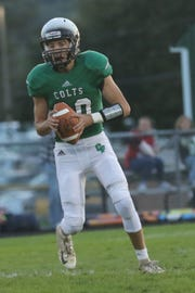 Clear Fork's Brennan South looks for an opening while playing against River Valley at home on Friday night.