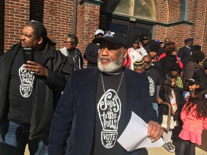 The Rev. Greg Lewis, of St. Gabriel's Church of God in Christ, was the lead organizer of the Souls to the Polls event Saturday in Milwaukee.