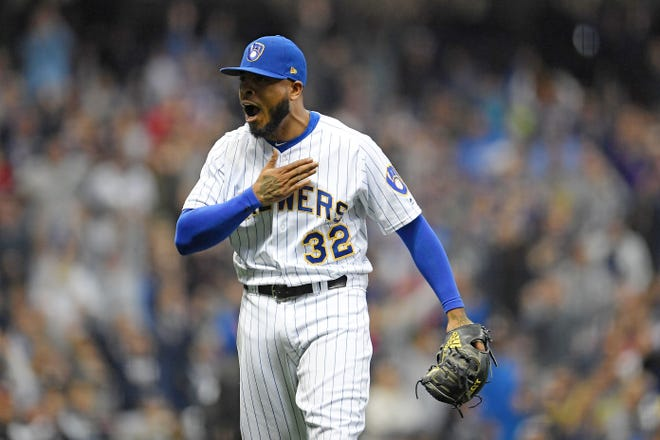 Jeremy Jeffress ranked eighth in the NL in relief innings pitched with 76 2/3.