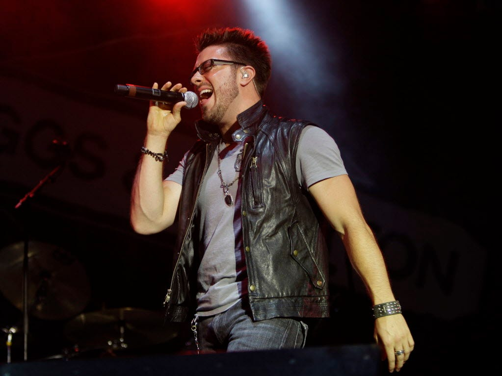 Former American Idol finalist Danny Gokey  performs on the Briggs and Stratton stage at Summerfest, Sunday, July 4, 2010.