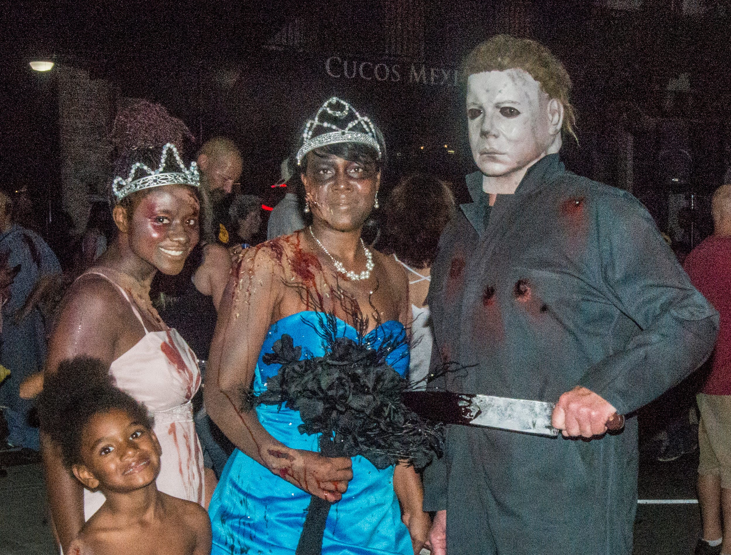 Zombie prom queens and Michael Myers? Why not. There were many kinds of dead walking in downtown Montgomery on Friday, Sept. 28, 2018, for  Montgomery Zombie Walk and Prom, which collected food and money donations for the Montgomery Area Food Bank.